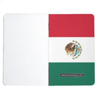 Journal patriotique avec le drapeau du Mexique