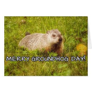 Joyeuse carte de voeux de jour de Groundhog