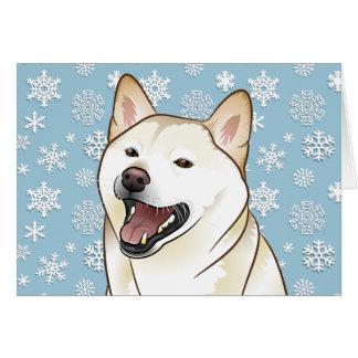 Joyeuse carte personnalisable de Shiba Inu de