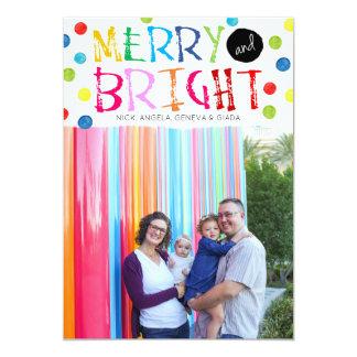 Joyeuse et lumineuse carte de vacances