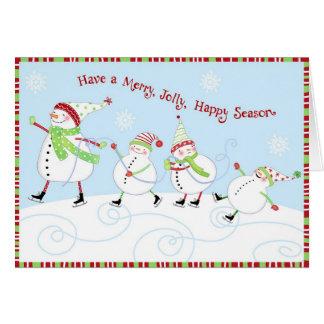 Joyeuse, gaie, heureuse saison carte