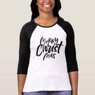 Joyeuse inscription chrétienne de Noël religieuse T-shirt