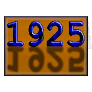 Joyeux anniversaire 1925 ans de twentie des années carte