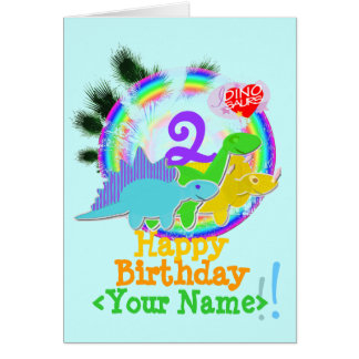 Joyeux anniversaire 2 ans, votre carte nommée de
