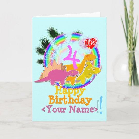 Joyeux Anniversaire 4 Ans Votre Carte Nommee De Zazzle Be