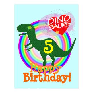Joyeux anniversaire 5 ans de carte postale de