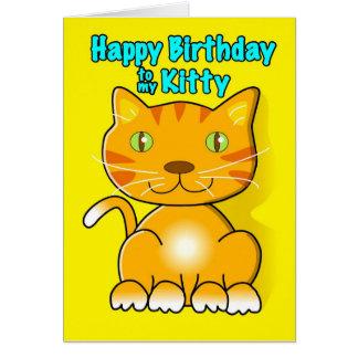 Joyeux anniversaire à mon Kitty. Carte De Vœux