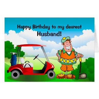 Joyeux anniversaire à mon plus cher Mari-Golfeur Carte De Vœux