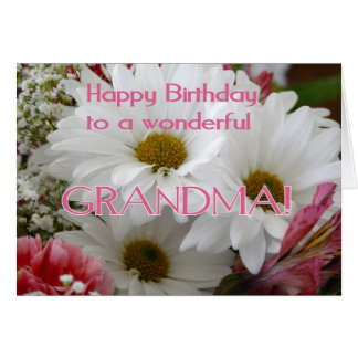 Joyeux anniversaire à une grand-maman merveilleuse carte