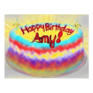 Joyeux anniversaire Amy ! Carte Postale