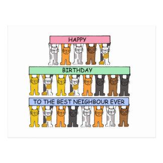 Joyeux anniversaire au meilleur voisin jamais carte postale