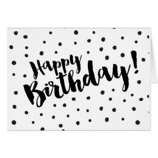 Joyeux anniversaire - carte de voeux pointillée