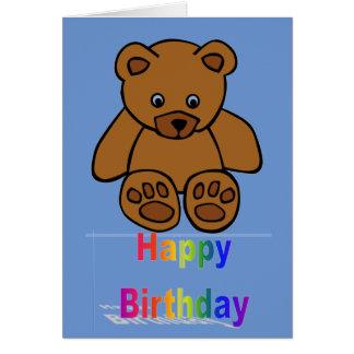 Joyeux anniversaire de bébé et d'enfant en bas âge carte de vœux