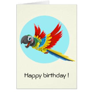 Joyeux anniversaire de enfant coloré de bande carte