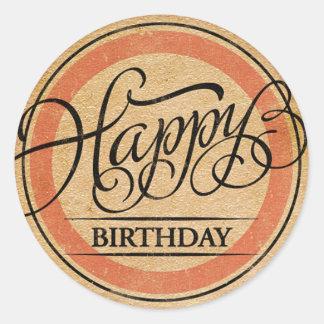 Joyeux anniversaire sticker rond