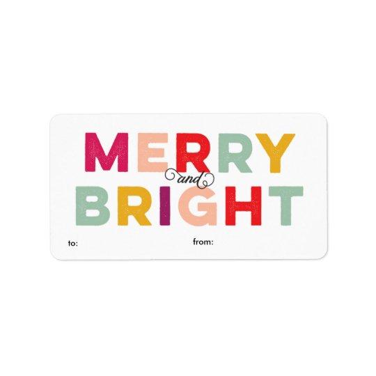 Joyeux et lumineux étiquette coloré moderne de