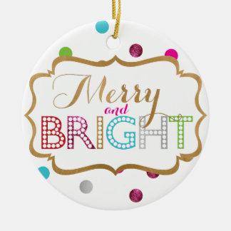 Joyeux et lumineux ornement de Noël