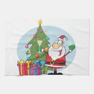 Joyeux Noël à tous et à tous bonne nuit Serviettes Éponge
