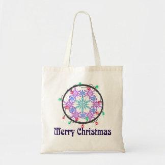 Joyeux Noël avec des flocons de neige Tote Bag
