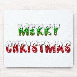 Joyeux Noël avec le tapis de souris de neige