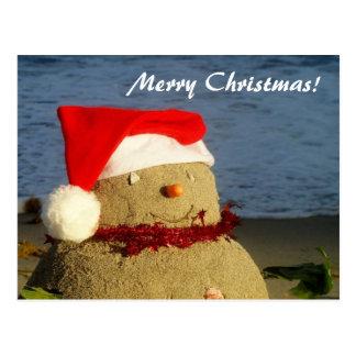 Joyeux Noël ! bonhomme de neige de sandman/ Carte Postale