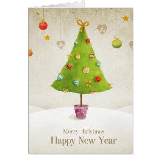 Joyeux Noël, bonne année Carte De Vœux