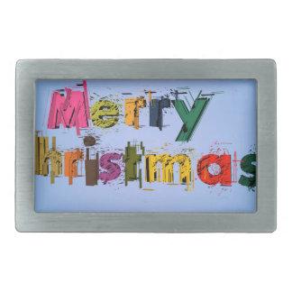 Joyeux Noël Boucles De Ceinture Rectangulaires