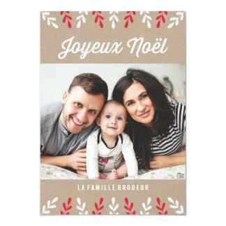 Joyeux Noël | Carte de Noël Carton D'invitation 12,7 Cm X 17,78 Cm