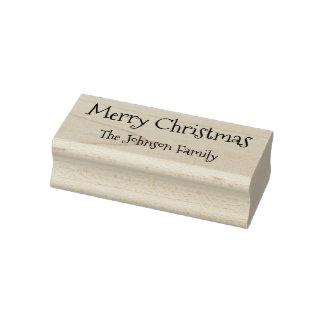 Joyeux Noël de nom de famille fait sur commande