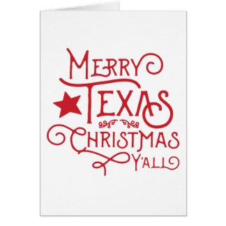 Joyeux Noël du Texas vous carte de voeux