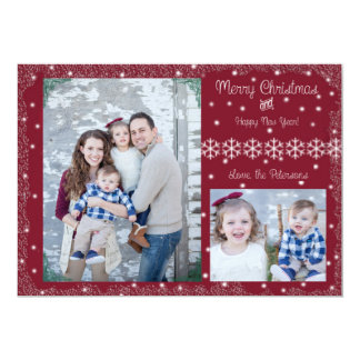 Joyeux Noël et bonne année ! Carte de voeux Carton D'invitation 12,7 Cm X 17,78 Cm