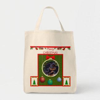 Joyeux Noël Fourre-tout Sac En Toile Épicerie