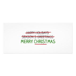 Joyeux Noël, pas Bonnes Fêtes Double Carte En Couleur