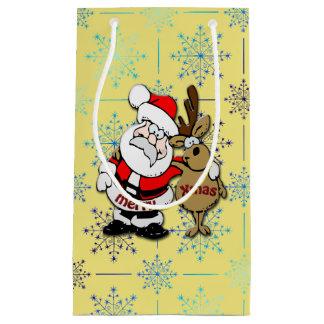 Joyeux Noël Père Noël et Rudy - sac de cadeau