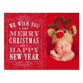 Joyeux Noël, photo de bonne année Carte Postale