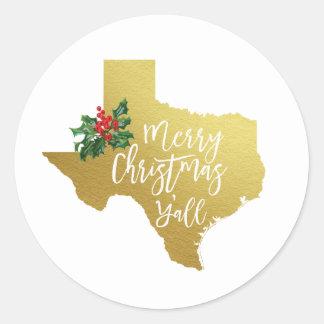 Joyeux Noël vous autocollant du Texas