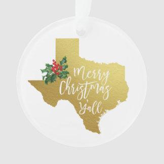 Joyeux Noël vous ornement du Texas
