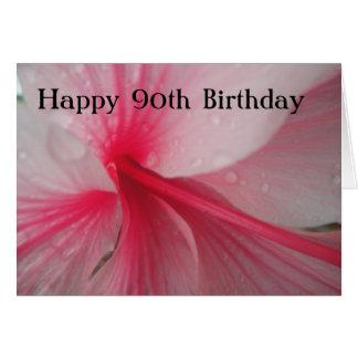 Joyeux quatre-vingt-dixième anniversaire carte