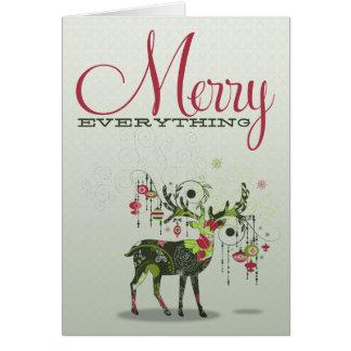 Joyeux tout carte de Noël de vacances de renne