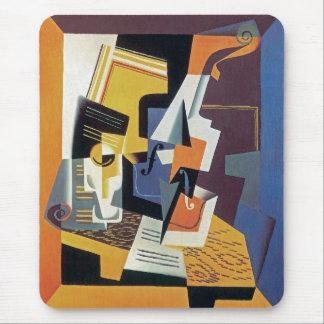 Juan Gris - violon et verre - art abstrait Tapis De Souris