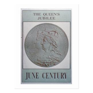 """""""Jubileum 1837-87 van de Koningin"""" (kleurenlitho) Briefkaart"""