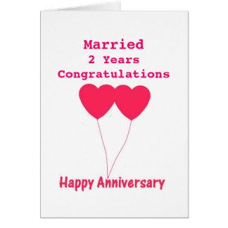 Jubileum I van het huwelijk jaar, Kaart. Personali Wenskaart