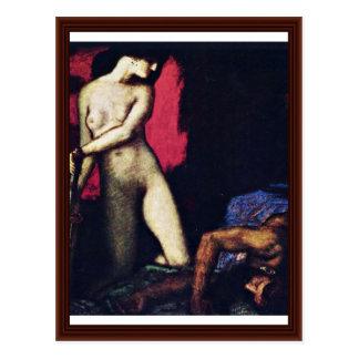 Judith et Holofernes par von coincé de Franz Carte Postale