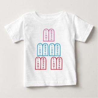 Juif saint d'étincelle de symboles de judaïsme t-shirt pour bébé