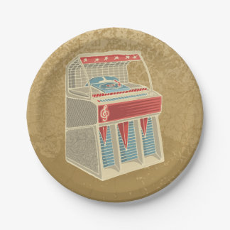 Juke-box grunge assiettes en papier