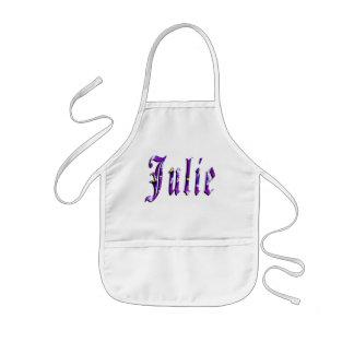 Julie, nom, logo, tablier artistique de Kindy de