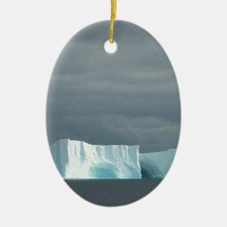 Jumeaux de glacier d'océan de nature ornement ovale en céramique