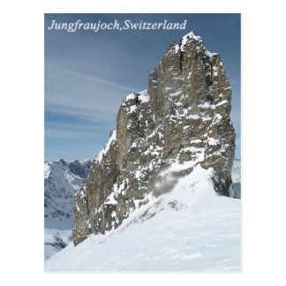 Jungfraujoch, carte postale de la Suisse