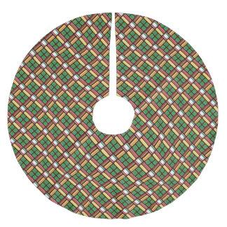 Jupe démodée d'arbre de plaid de sucreries de Noël Jupon De Sapin En Polyester Brossé