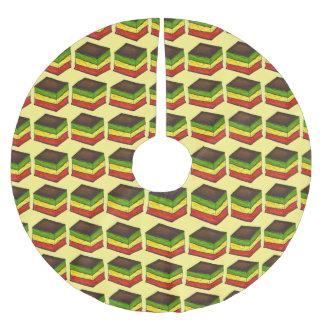 Jupe italienne d'arbre de Noël de biscuits Jupon De Sapin En Polyester Brossé